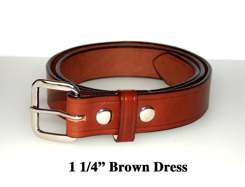 "10 OZ LEATHER- BLACK 60/"" BROWN 1 1//2/"" WIDE AMISH HAND MADE DRESS BELTS 32/"""